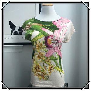 Express Floral T-Shirt Size XS NWOT